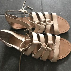 Old navy lace up sandals - size 8