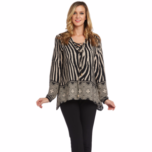 NWT Kaktus Animal Print Tunic Blouse