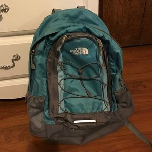 North Face backpack-blue Jester