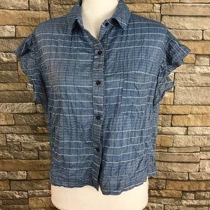 Anthropologie Dolan Blue Striped Button Down Shirt