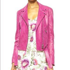Never been worn Haute Hippie pink leather/suede