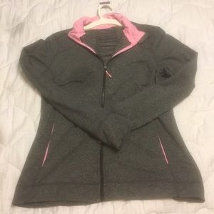 H&M Tops - Gray & Pink Workout Jacket