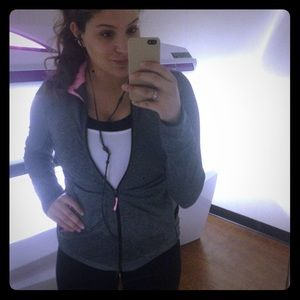 Gray & Pink Workout Jacket
