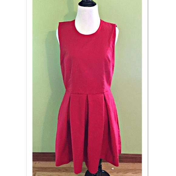 1cda0b45a3e GAP Dresses   Skirts - GAP Classic Fit and Flare Dress Modern Red Size 8