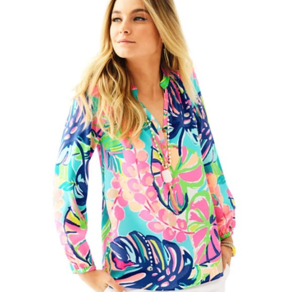 2bfbeb7c683a9 Lilly Pulitzer Tops - TEMPORARY SALE! Elsa Top in Exotic Garden