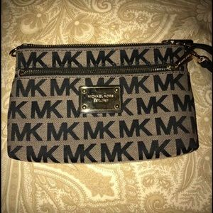 Mk authentic wristlet (clearance item )