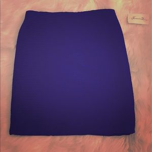 NWT Forever 21 bright blue pencil skirt size small