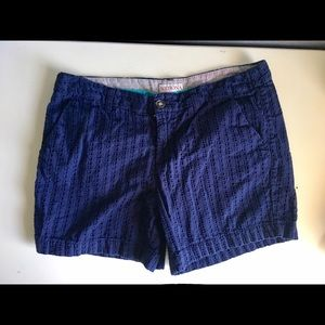 Merona blue lace shorts