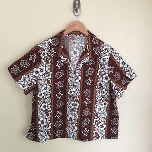 Hilo Hattie Hawaiian Original print blouse sz XL