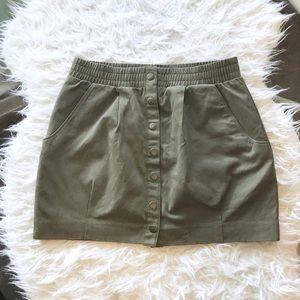 H&M Army Green Mini Skirt