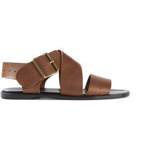 Michel Vivien Brown Leather Sandals