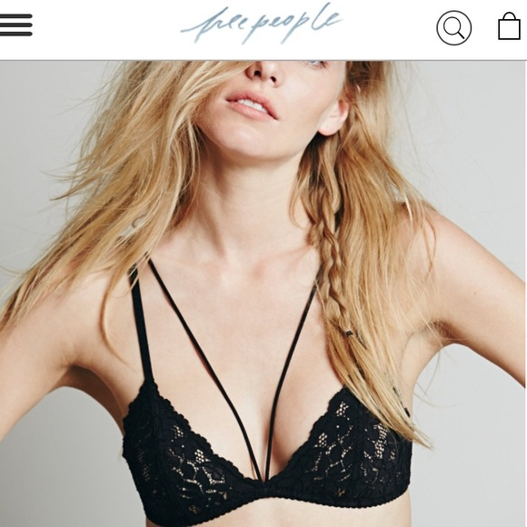 ab36641d1da Free People Other - Free People Front Strap Traingle lace bra