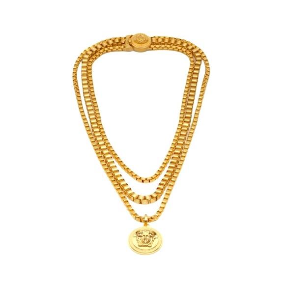 4e5fbcbe82a VERSACE Triple Chain Medusa Necklace