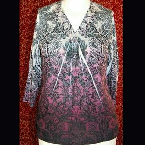 NEWChico's long sleeve blouse 3 XL