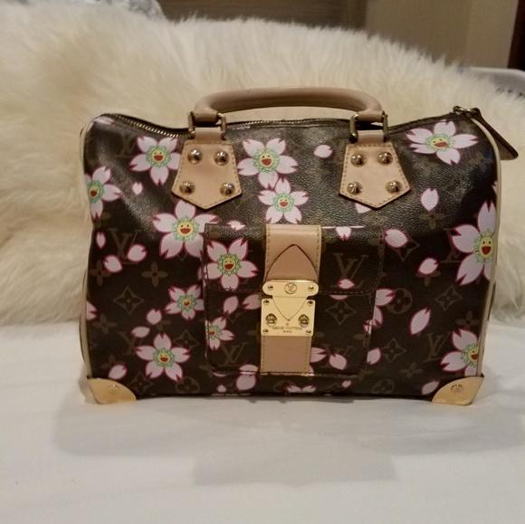 4fd397407035 Louis Vuitton Handbags - LV BROWN CHERRY BLOSSOM SPEEDY