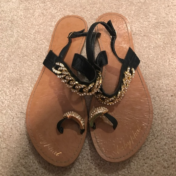 33 Off Baby Phat Shoes Baby Phat Sandals With Gold