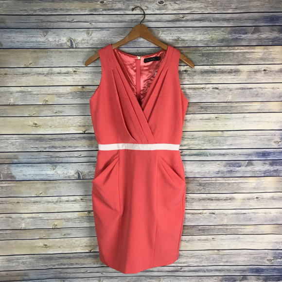 The Limited Dresses & Skirts - The Limited Coral Pink Sleeveless Sheath Dress