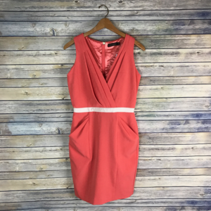 The Limited Coral Pink Sleeveless Sheath Dress