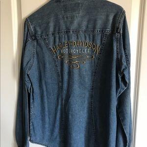 Harley Davidson jean shirt