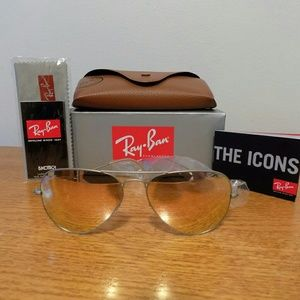 NEW RAYBAN RB 3025 019/Z2 SILVER FRAME COPPER LENS