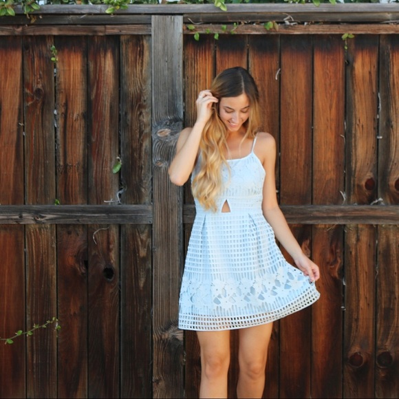 Dresses & Skirts - light blue lace dress