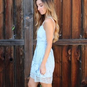 Dresses - light blue lace dress