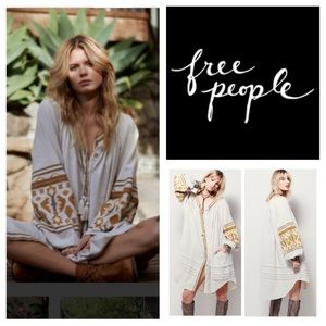 🆕Free People In The Clear Embroidered Dress. NWOT