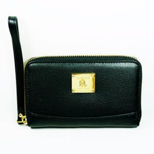 Lauren Ralph Lauren Leather Zip Around Wristlet