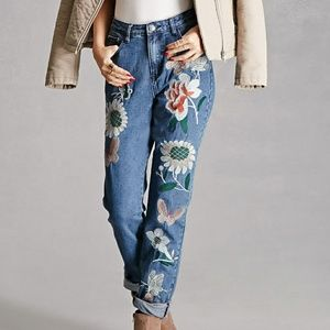 Forever 21 Jeans - Pixie & Diamond Embroider Jeans/Forever 21