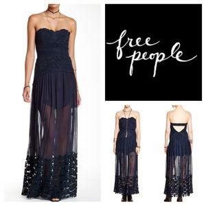 🆕Free People Monarch Yoke Maxi Dress.  NWOT.