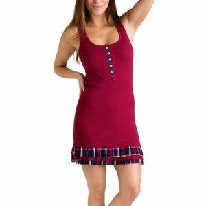 Wallflower Rib dress with Plaid Ruffle hem ✨NEW✨