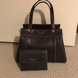 Chocolate brown kate Spade bag & wallet!
