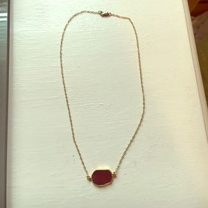 Maroon stone necklace