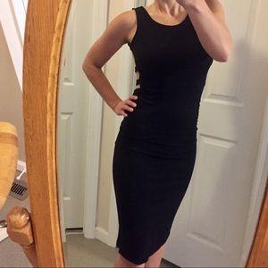 Dresses & Skirts - Black Backless Midi Dress