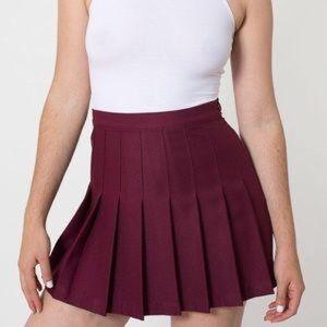 American apparel maroon tennis skirt size medium