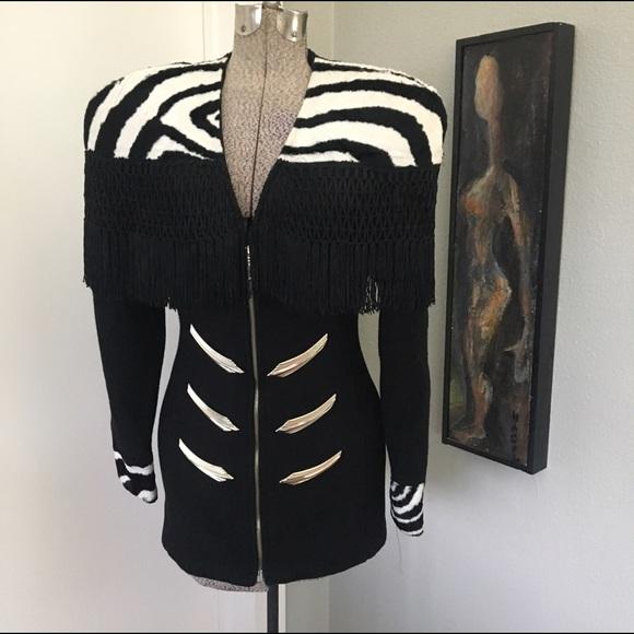 80s zebra jacket