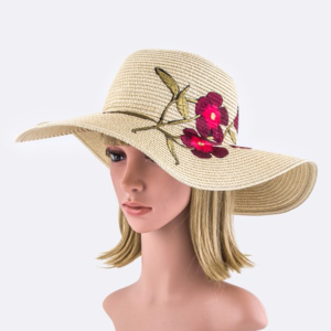 🌺SALE-Flower Embroidery Patch Straw Floppy Hat 🌺