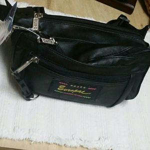 Other - NWT LEATHER FANNY BAG WITH ADJUSTABLE STRAPS