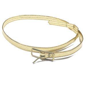 "Accessories - 3/$20 Vintage Skinny Gold Metallic Belt 32"""