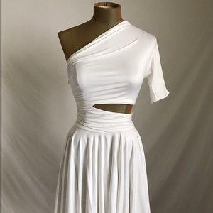 Cushnie Et Ochs sexy white stretch dress