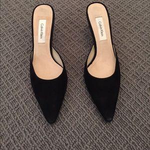 Calvin Klein black slides size 7 1/2