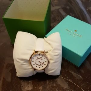 Kate Spade White Metro Watch
