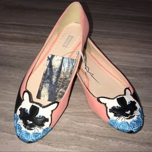 HP🦄UO Pink Cat Flats