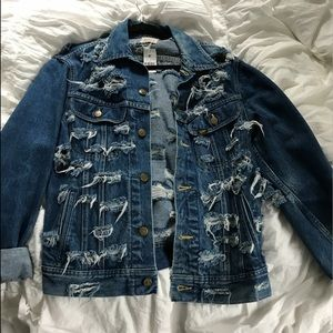 LF furst of a kind denim jacket $389 sold out NWT