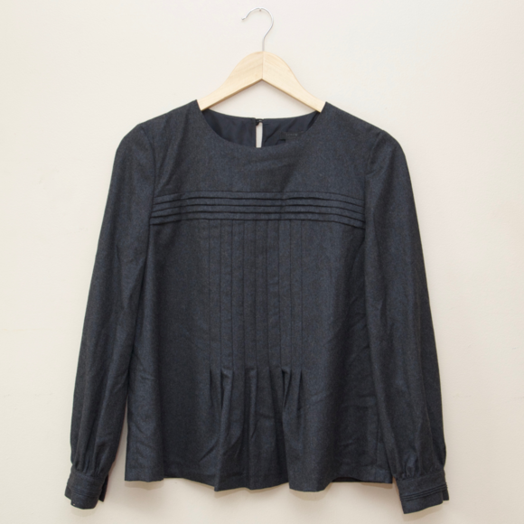 J. Crew Tops - J Crew Collection Pleated Wool Top