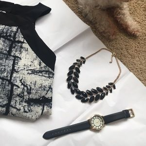 Jewelry - *MOVING SALE*BUY NOW* Black & Gold Necklace/Watch