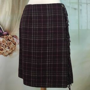 Sag Harbor Plaid Wrap Style Skirt