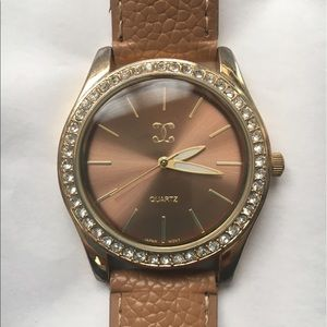 Jewelry - *MOVING SALE*BUY NOW* Tan & Gold Watch