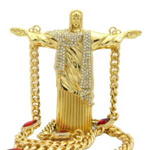 Other - Hip Hop Jesus Body Pendant & Ruby Chain Necklace