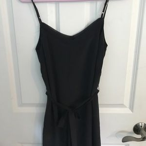 French Connection 100% Silk Black Dress